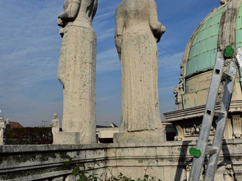 caratterizzazione stato conservazione statue milano